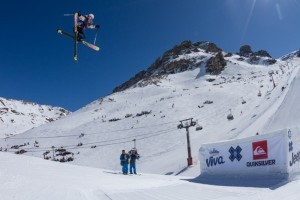 March 14th, 2012 - Tignes, France : Tiril Sjastad Christiansen during the Women Ski Slopestyle Final at the Winter X Games 2012.